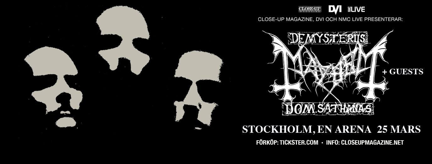 Mayhem i Stockholm @ En Arena | Stockholms län | Sweden