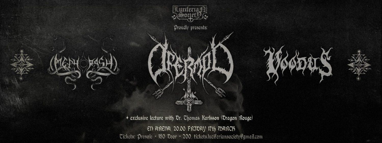 Ofermod - Release Ceremony: Sol Nox, Mephorash & Voodus @ Kraken Sthlm | Stockholms län | Sweden