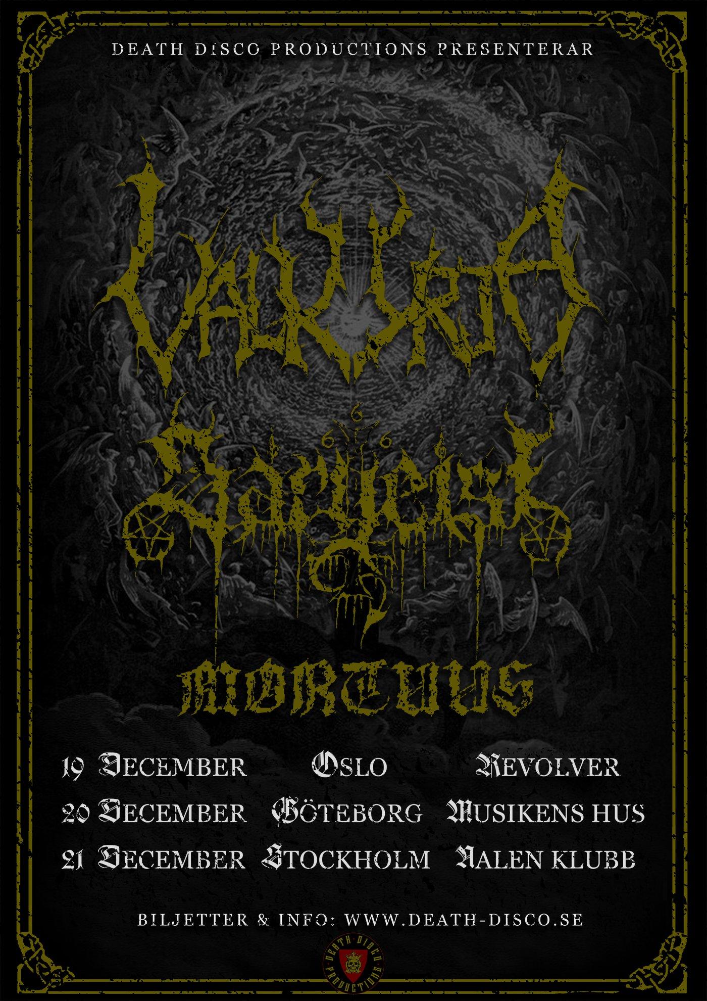 VALKYRJA + SARGEIST + MORTUUS @ Nalen Klubb