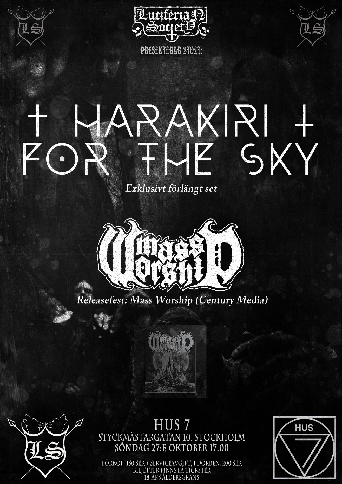 Harakiri For The Sky & Mass Worship @ Hus 7