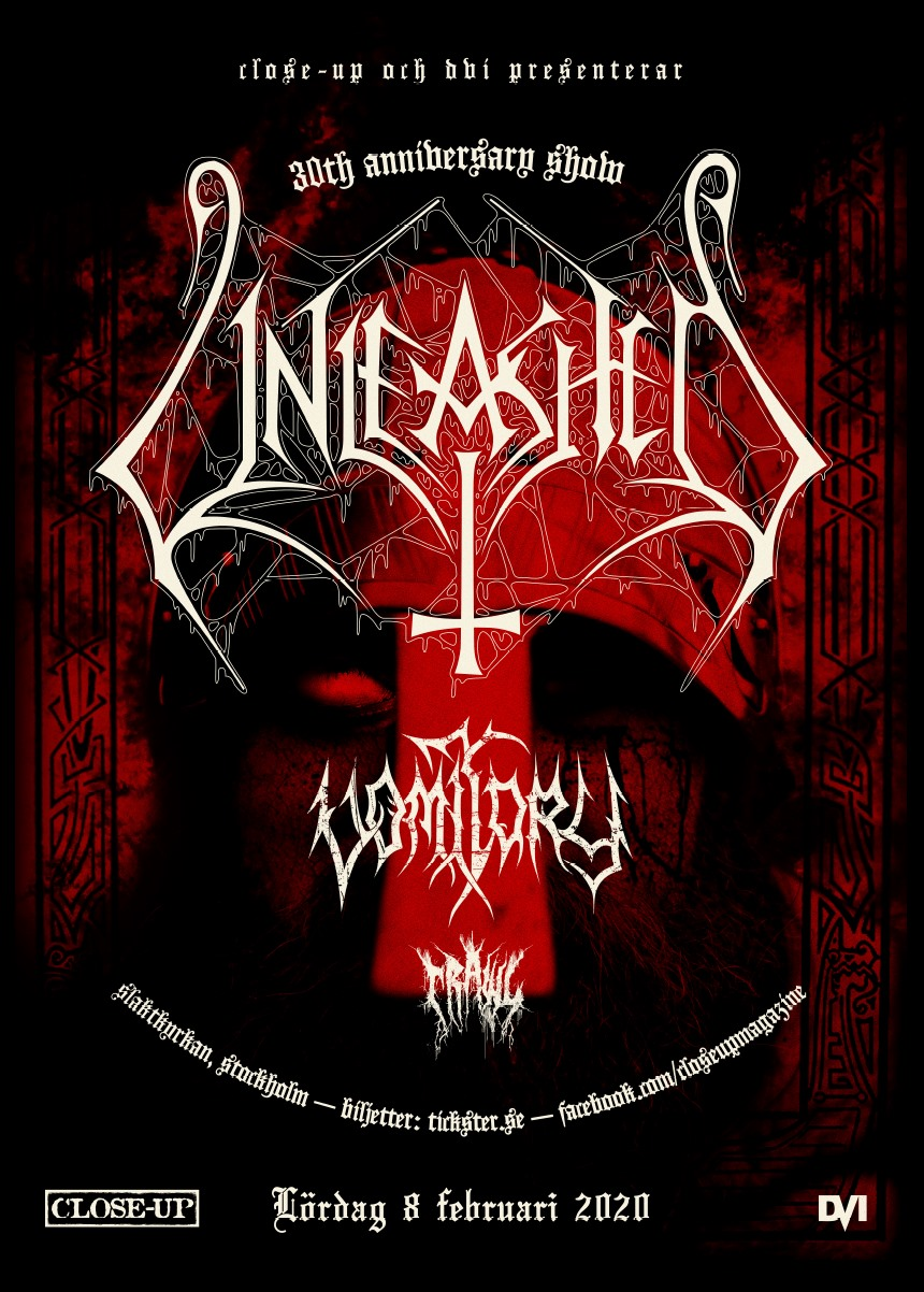 Unleashed 30th anniversary show (w. VOMITORY & CRAWL) @ Slaktkyrkan