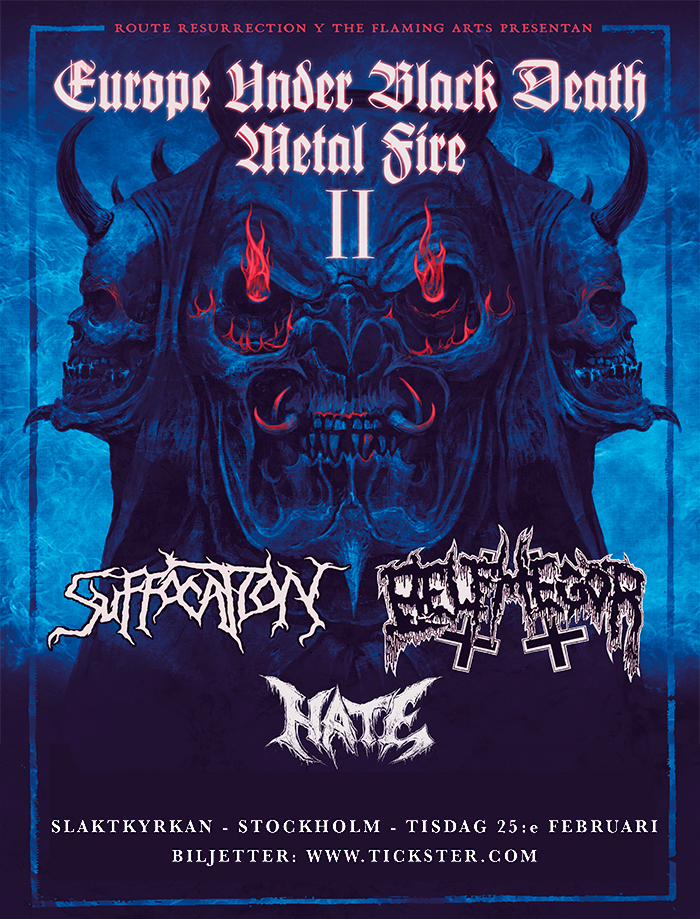 Suffocation / Belphegor / Hate @ Slaktkyrkan