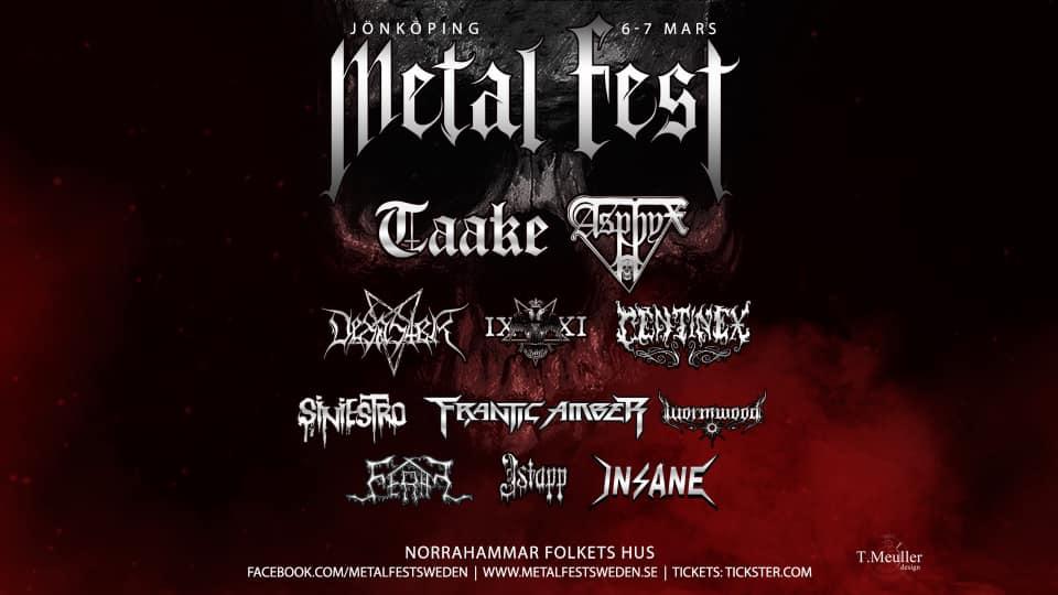 Jönköping Metal Fest 6-7 March 2020 @ Norrahammar Folkets Hus