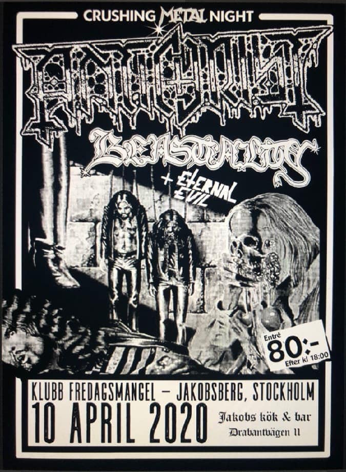 CANCELLED // ANTICHRIST + Beastiality + Eternal Evil @ Jakobs Kök & Bar
