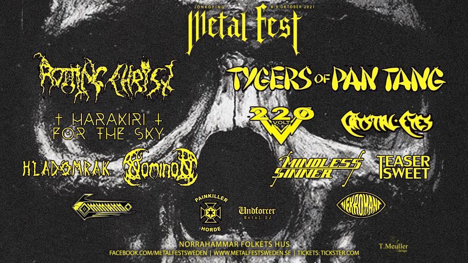 Jönköping Metal Fest 8-9 oktober 2021 @ Folkets Hus Norrahammar
