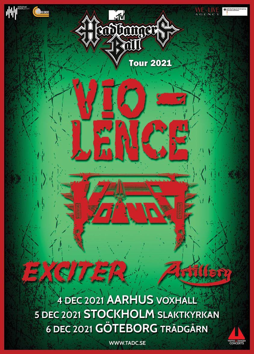 Vio-Lence, VoiVod, Exciter & Artillery @ Slaktkyrkan